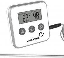 Электронный термометр со звуковым сигналом о превышении температуры.